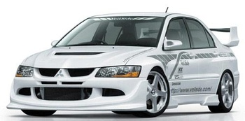 VS-style Add-on Frontläpp FRP Lancer Evo 8