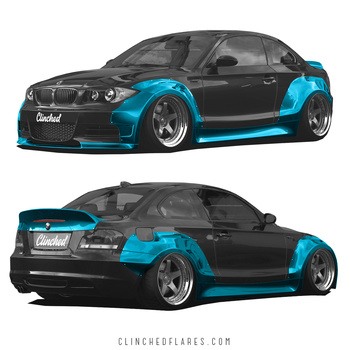 Clinched BMW E82 Widebody / Breddningskit / skärmbreddare