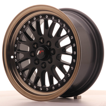 Japan Racing JR10 15x7 ET30 4x100/108 Matt Black Bronze Lip