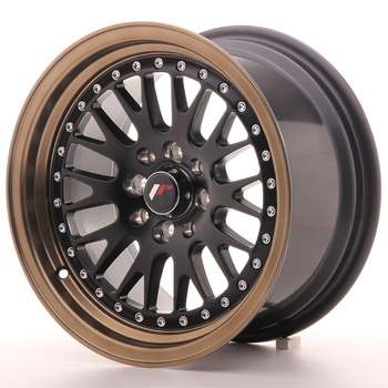Japan Racing JR10 15x8 ET20 4x100/108 Matt Black + Bronze Lip