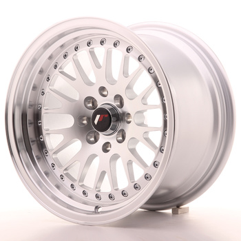 Japan Racing JR10 15x9 ET0 4x100/114 Machined Silver