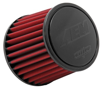 2.5'' (63mm) AEM Dry Flow luftfilter - 130mm