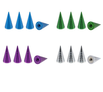 True Spike Lug Nut Caps - Spiral - 25 mm / 51 mm