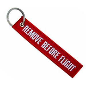 Remove Before Flight - Nyckelring